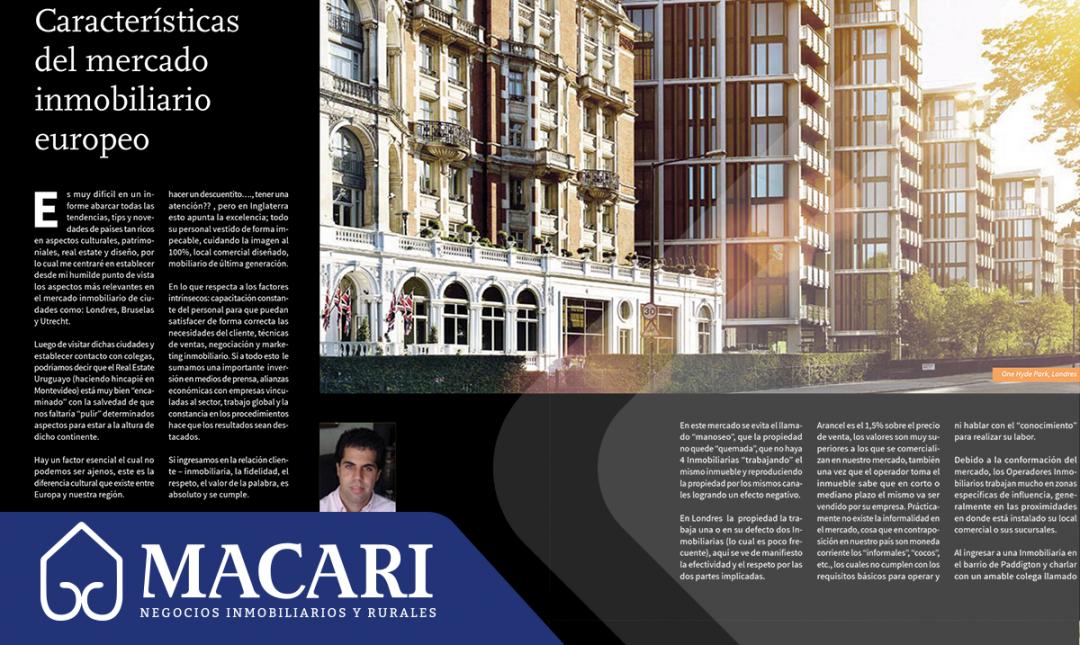 Características del mercado inmobiliario europeo