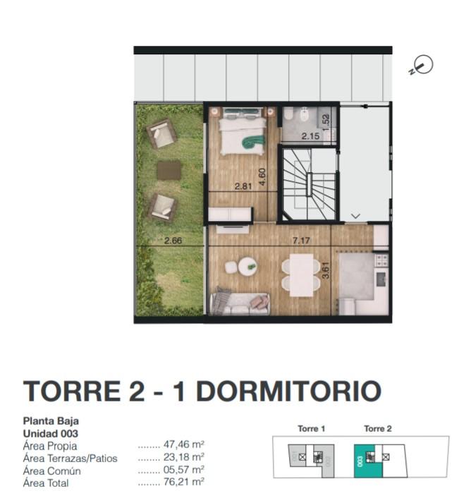 TORRE 2 1 DORMITORIO